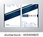 blue green annual report...   Shutterstock .eps vector #445404805