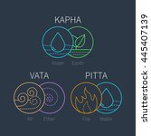 ayurveda vector elements and... | Shutterstock .eps vector #445407139