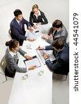 team of five business people... | Shutterstock . vector #44541079