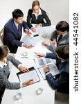 team of several business people ... | Shutterstock . vector #44541082