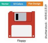 floppy icon. flat color design. ...