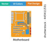 motherboard icon. flat color...