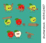 Funny Set Apple And Cinnamon...