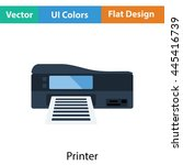 printer icon. flat color design....