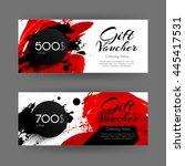 vector gift voucher with...