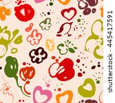 vector seamless pattern with... | Shutterstock .eps vector #445417591