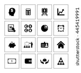 financial icon set. eps 10. | Shutterstock .eps vector #445419991