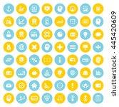 financial icon set. eps 10. | Shutterstock .eps vector #445420609