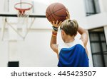 basketball bounce competition... | Shutterstock . vector #445423507