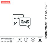 sms sign icon | Shutterstock .eps vector #445423717