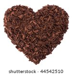 Chocolate Heart Isolated On...