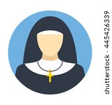nun vector icon