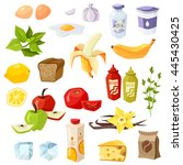 set of daily meal. every day... | Shutterstock .eps vector #445430425