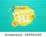 summer sale background  with... | Shutterstock .eps vector #445442185