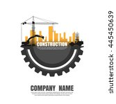 construct building logo. vector | Shutterstock .eps vector #445450639