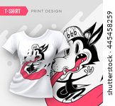 abstract modern t shirt print... | Shutterstock .eps vector #445458259