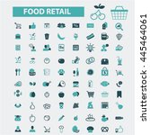 food retail icons | Shutterstock .eps vector #445464061