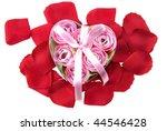 present made of roses. ... | Shutterstock . vector #44546428