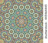 morocco seamless pattern.... | Shutterstock . vector #445464445
