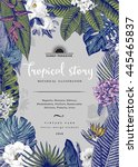 vector vintage card. botanical... | Shutterstock .eps vector #445465837