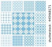 seamless line patterns set.... | Shutterstock .eps vector #445468171