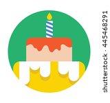 cake vector icon | Shutterstock .eps vector #445468291