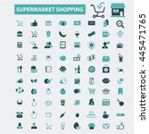 supermarket shopping icons | Shutterstock .eps vector #445471765