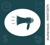 megaphone  loudspeaker icon.... | Shutterstock .eps vector #445472074