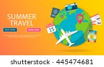 trip to world. travel to world. ... | Shutterstock .eps vector #445474681