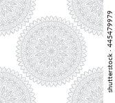 vector round mandala. decor for ... | Shutterstock .eps vector #445479979