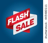 flash sale arrow tag sign icon. ... | Shutterstock .eps vector #445480111