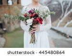wedding. the girl in a white... | Shutterstock . vector #445480864
