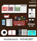 vector workplace businessman... | Shutterstock .eps vector #445481887