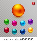 Set Of Nine Multicolored...