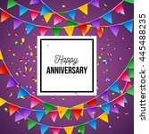happy anniversary greeting card ... | Shutterstock .eps vector #445488235