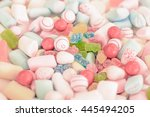 mixed candy and marshmallow... | Shutterstock . vector #445494205