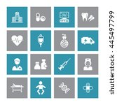 medical   healthcare icon set.... | Shutterstock .eps vector #445497799