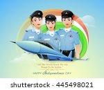 proud of india  creative... | Shutterstock .eps vector #445498021