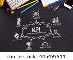 kpi key performance indicator...   Shutterstock . vector #445499911