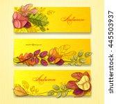 autumn background. vector eps... | Shutterstock .eps vector #445503937