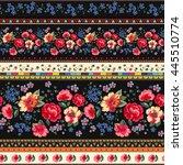 seamless cuban floral border... | Shutterstock .eps vector #445510774