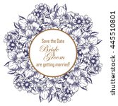 romantic invitation. wedding ... | Shutterstock .eps vector #445510801