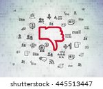 social network concept  painted ...   Shutterstock . vector #445513447
