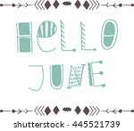 uncommon vector hand drawn with ... | Shutterstock .eps vector #445521739