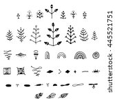 uncommon vector hand drawn with ... | Shutterstock .eps vector #445521751