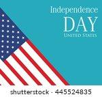 vector image of american flag ... | Shutterstock .eps vector #445524835