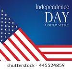 vector image of american flag ... | Shutterstock .eps vector #445524859