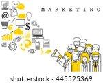 marketing team on white... | Shutterstock .eps vector #445525369