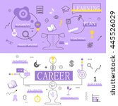 flat design icons on background ... | Shutterstock .eps vector #445526029