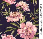 watercolor pattern with pink... | Shutterstock . vector #445526311